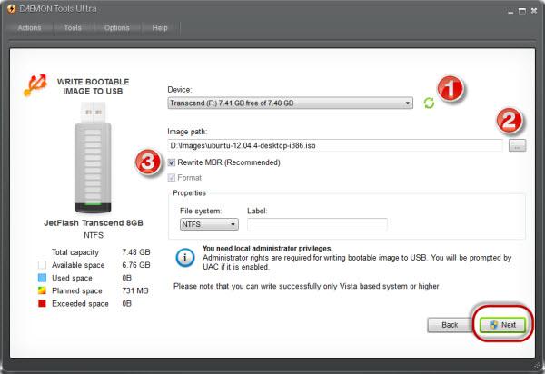Как сделать флешку загрузочной через daemon tools