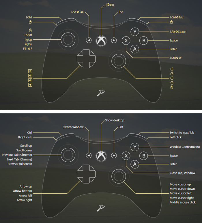How to use controller as mouse and control PC with Xbox controller