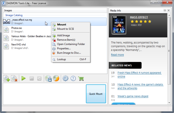 How to mount an image with new DAEMON Tools Lite 5