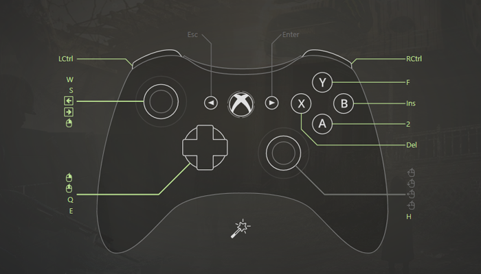Map Xbox 360 to Keyboard Xbox 360 Button Mapping