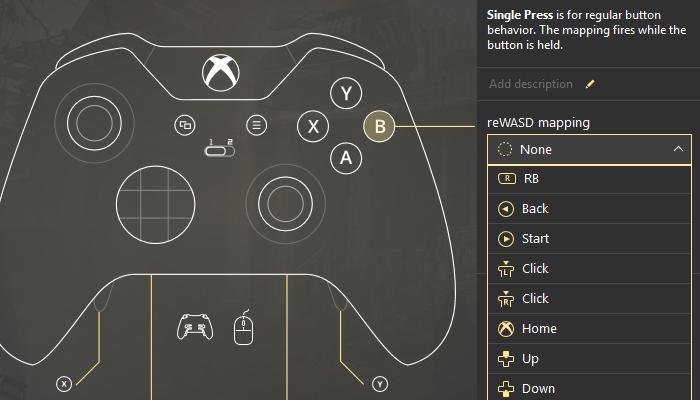 reWASD 4 0: Xbox 360 controller emulator and macro controller creator