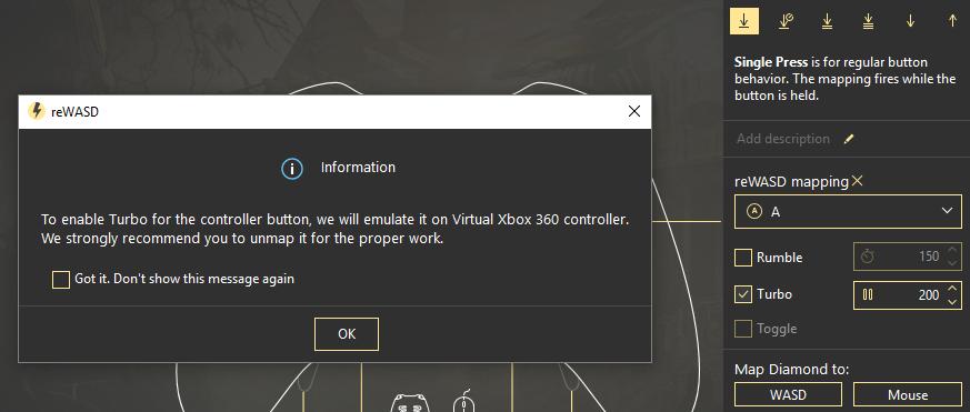 reWASD 4 0: Xbox 360 controller emulator and macro