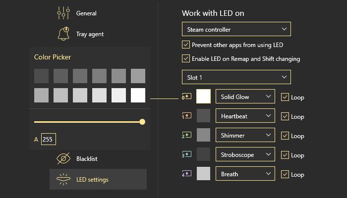 All the basics about LED settings in reWASD setup LED PS4 controller