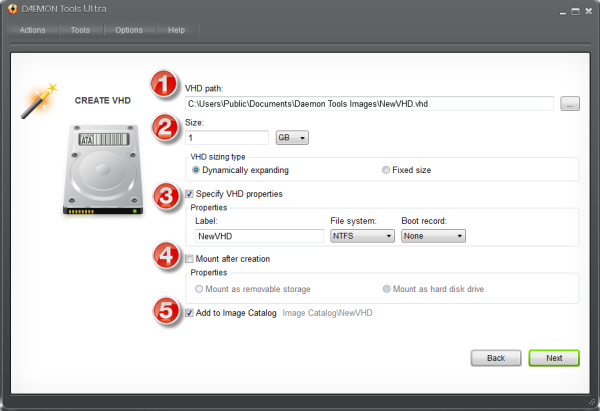 How to create VHD and where to use it