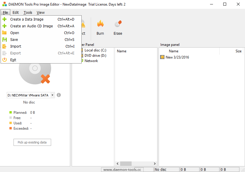 DAEMON Tools Pro 8: advanced tool to mount and create images