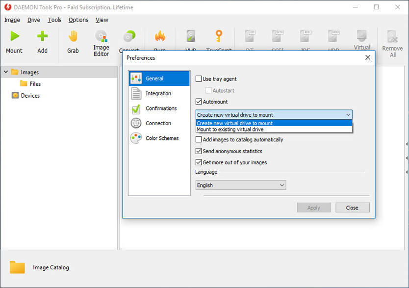 Daemon tools pro images